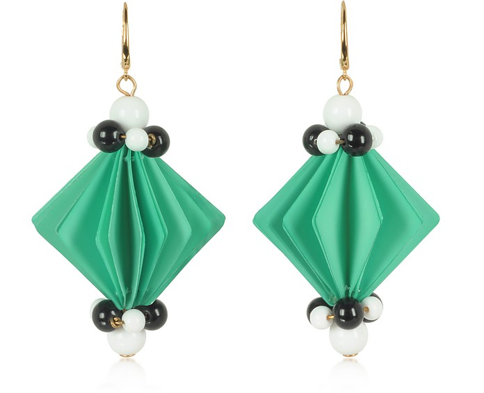 Plastic Earrings w/Beads - Marni / マルニ