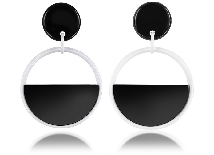 Lily White Resin Earrings - Marni
