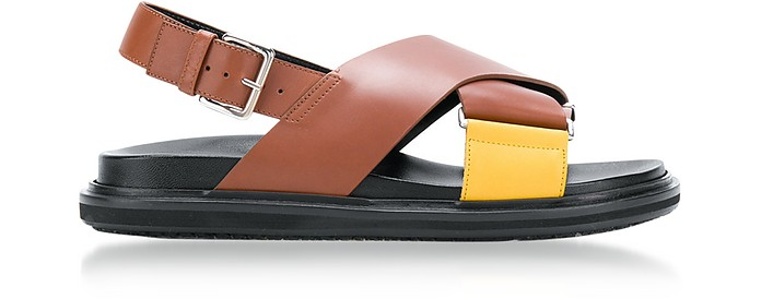 Lemon and Peanuts Leather Fussbett Sandals