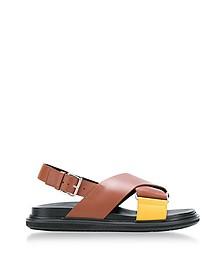 Lemon and Peanuts Leather Fussbett Sandals - Marni