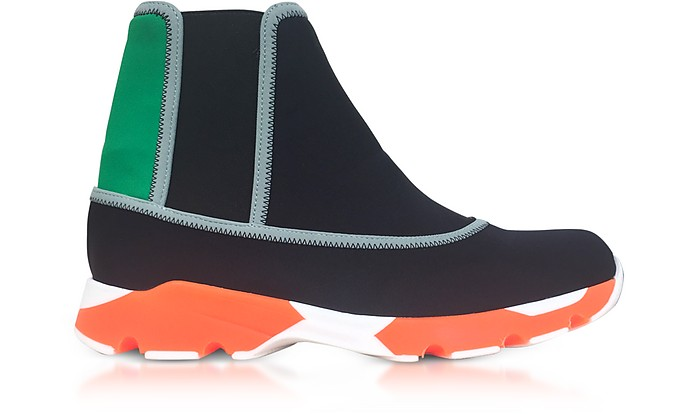 Black Neoprene High Top Sneakers - Marni