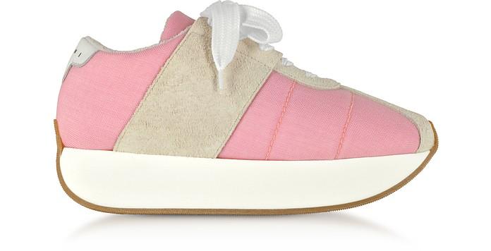 Quartz Tech Fabric Big Foot Sneakers - Marni
