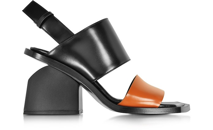 Colorblock Leather Mid-heel Sandal - Marni