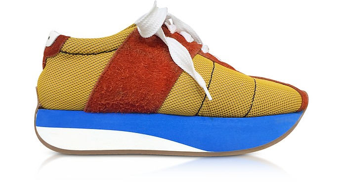 Ochre and Rust Tech Fabric Big Foot Sneakers - Marni