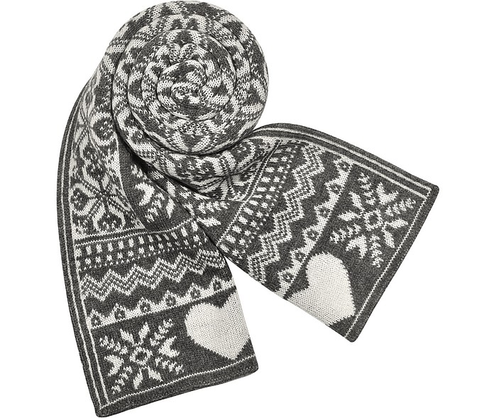 Longue écharpe avec motifs scandinaves  - Moschino
