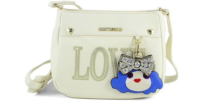 Love White Eco-Leather Shoulder Bag - Love Moschino