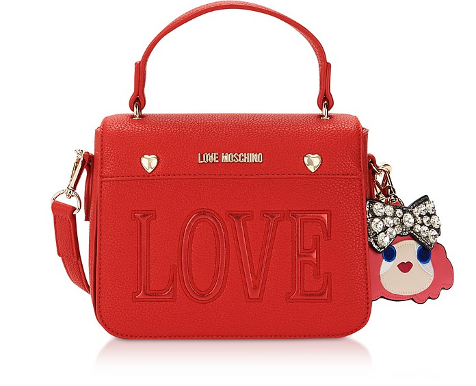 Love Red Eco-Leather Shoulder Bag - Love Moschino