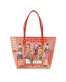 Tokyo Girls Charming Red Large Eco Leather Tote