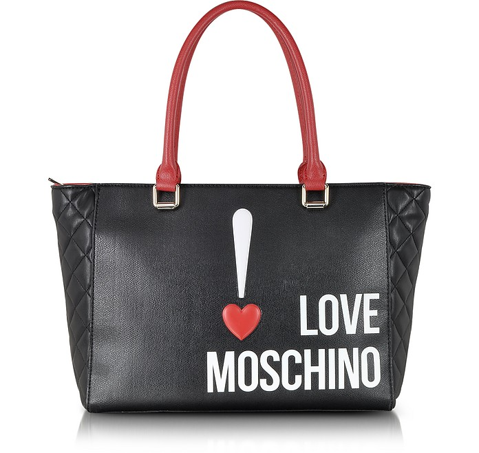 Love Moschino Color Block Eco Leather Shopper Tote - Moschino