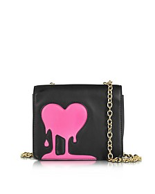 Melting Love Black & Pink Eco Leather Crossbody Bag - Love Moschino