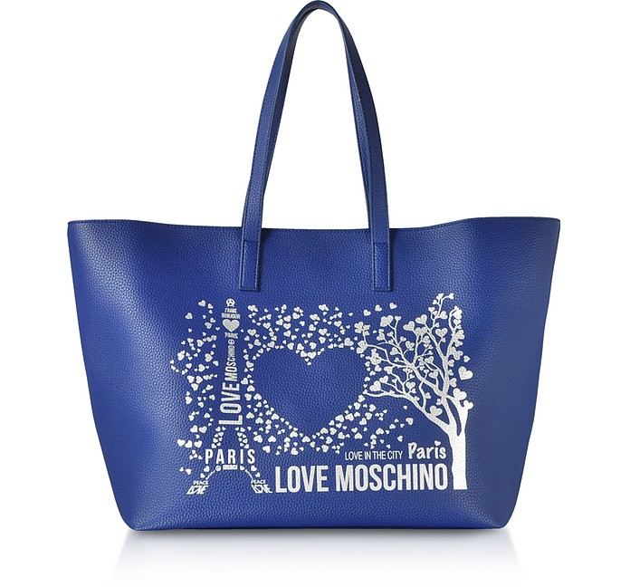 Printed City Lovers Tote Bag - Love Moschino