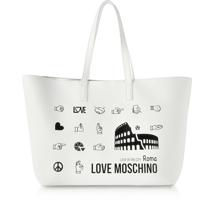 Printed City Lovers Tote Bag