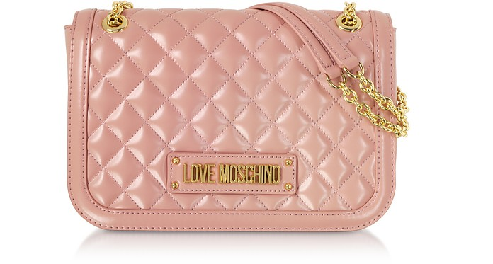 New Quilted Eco Leather Crossbody - Love Moschino