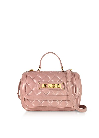New Quilted Eco Leather Top Handle - Love Moschino