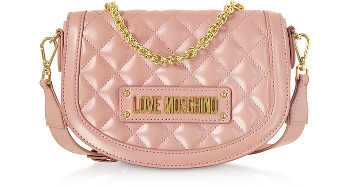 a3d812ec75a Love Moschino Pink New Quilted Eco Leather Top Handle Crossbody at ...