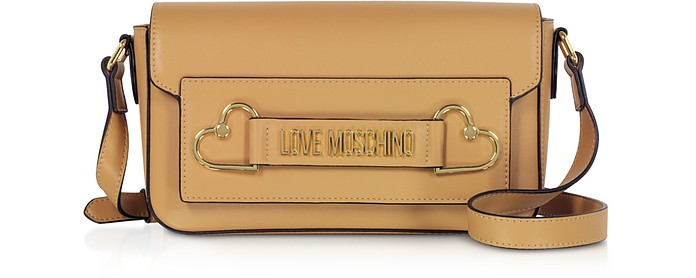 Camel Love and More Shoulder Bag - Love Moschino