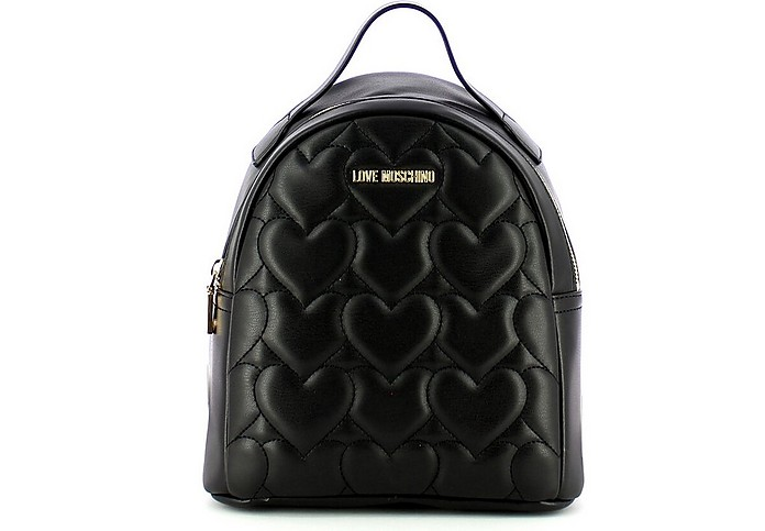 Black Quilted Eco Leather Backpack - Love Moschino / ラブ モスキーノ