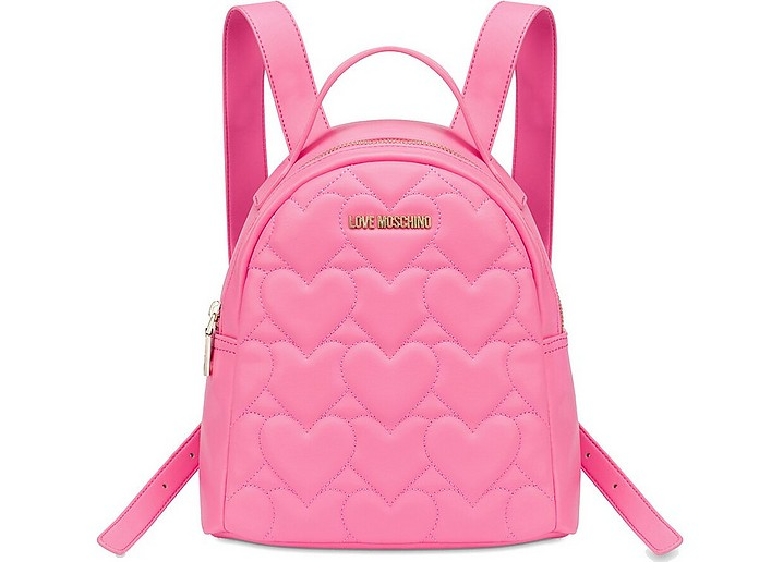 Pink Quilted Eco Leather Backpack - Love Moschino / ラブ モスキーノ