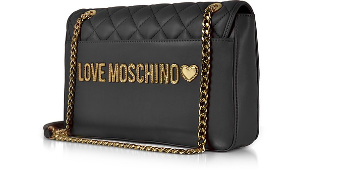 0ed3351095 Black Superquilted Eco-Leather Shoulder Bag - Love Moschino. Sold Out