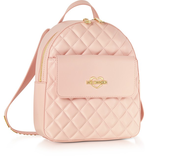 510048422f Pink Superquilted Eco-Leather Small Backpack - Love Moschino. £178.00  Actual transaction amount