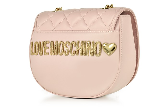 1b6e2d1677 Love Moschino Pink Superquilted Eco-Leather Small Crossbody Bag at FORZIERI