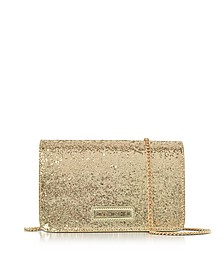 Evening Bag Gold Eco-Leather Clutch w/Chain Strap - Love Moschino