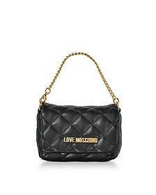 Mini Bag Black Eco-Leather Clutch - Love Moschino