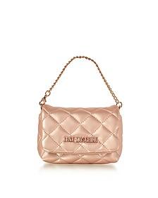 Mini Bag Gold Eco-Leather Clutch - Love Moschino