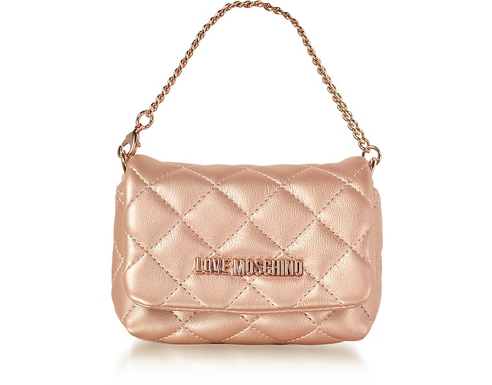 Mini Bag Copper Eco-Leather Clutch - Love Moschino