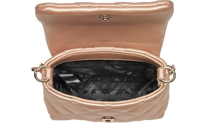 Mini Bag Clutch in Eco Pelle Matelassè Rame Love Moschino ySnW6xEK