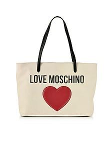 Love Moschino & Heart Cotton Tote Bag - Love Moschino