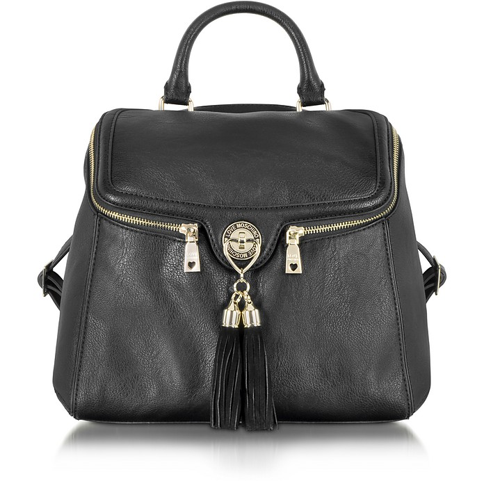 Love Moschino Pebble Grain Eco Leather Backpack - Moschino