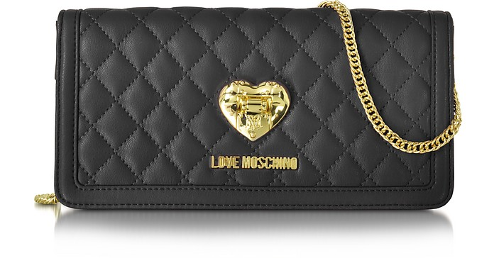 3529a776dc5 Love Moschino Black Quilted Wallet On Chain at FORZIERI Australia