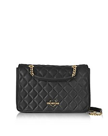 Fashion Quilted Eco-Leather Shoulder Bag - Love Moschino