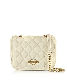 Superquilted Eco-Leather Shoulder Bag - Love Moschino