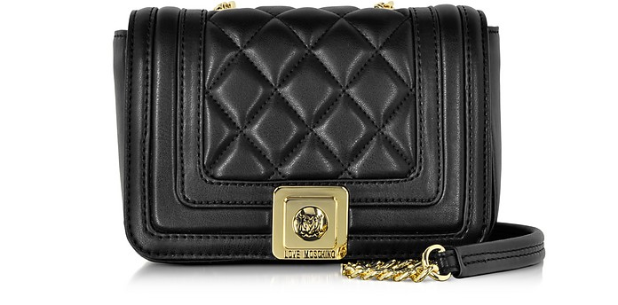 Quilted Eco Leather Crossbody Bag - Love Moschino