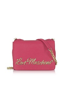 Love Moschino Fuchsia Eco-Leather Small Crossbody Bag - Love Moschino