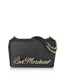 Love Moschino Black Eco-Leather Shoulder Bag - Love Moschino