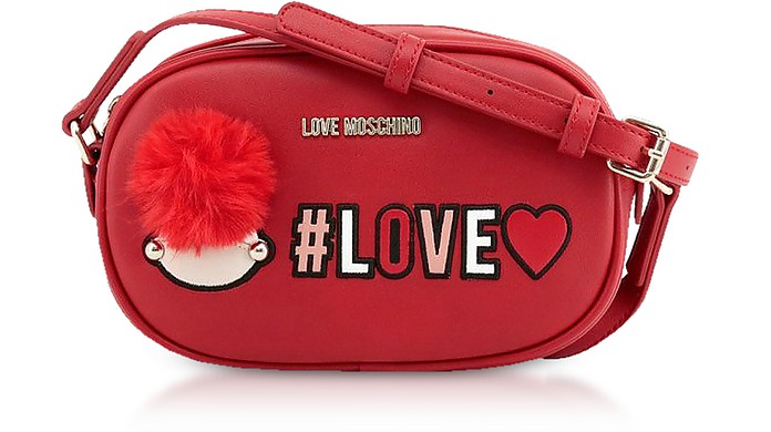 Red Love Crossbody Bag - Love Moschino