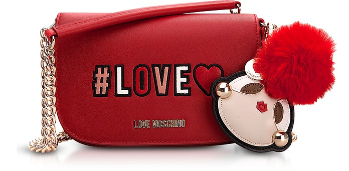 Love Flap Top Shoulder Bag - Love Moschino