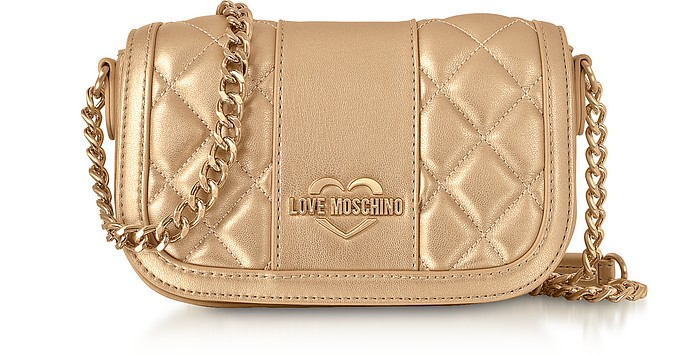 Love Moschino Mini Borsa a Spalla in Eco Pelle Laminata - Love Moschino