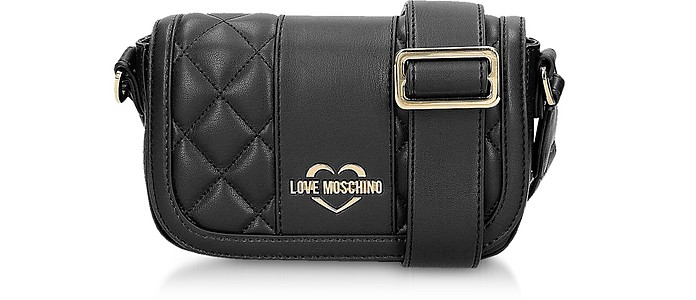 Quilted Eco Leather Camera Bag - Love Moschino