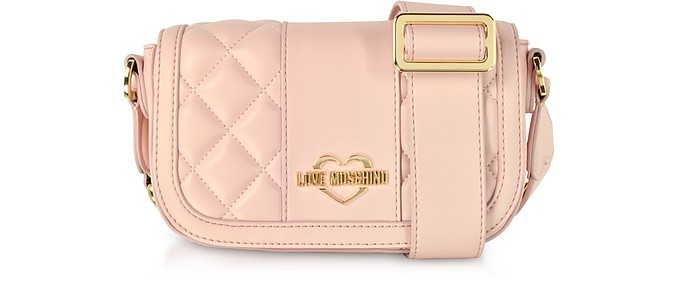 Quilted Eco Leather Camera Bag - Love Moschino / ラブ モスキーノ