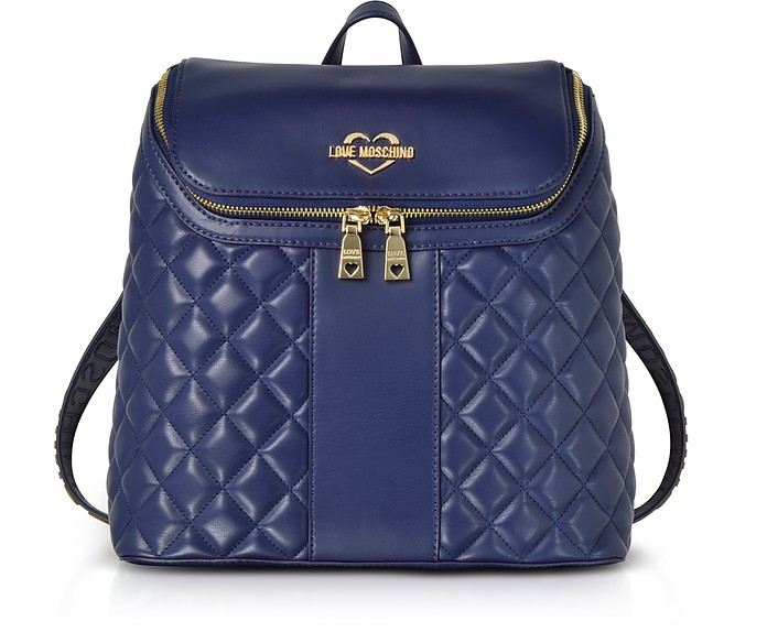 Quilted Eco Leather Backpack - Love Moschino