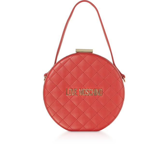 Round Bag Borsa a Mano in Eco Pelle - Love Moschino