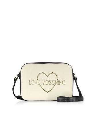 12b9969a4c Small Leather Crossbody bag w/ Golden Studs - Love Moschino