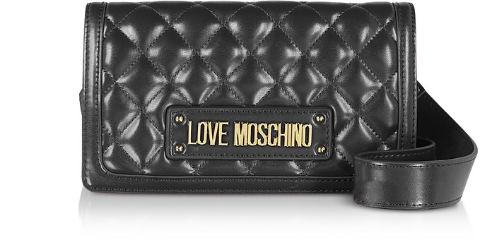 Quilted Eco-leather Crossbody Bag - Love Moschino