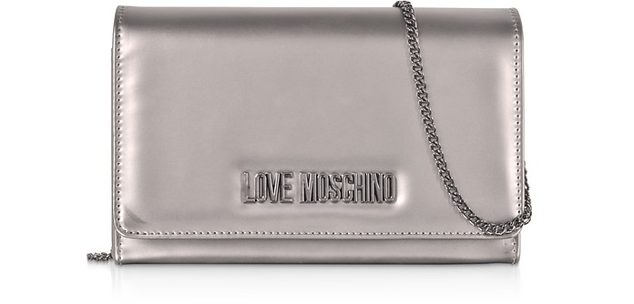 Eco-leather Clutch Bag - Love Moschino
