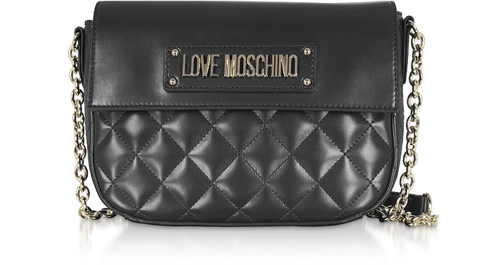 Quilted Eco-Leather Shoulder Bag - Love Moschino