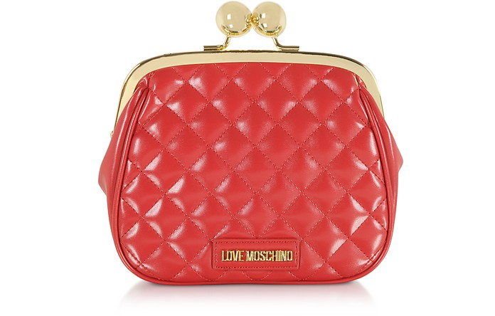 Love Moschino Clutch in Eco Pelle Matelassé - Love Moschino